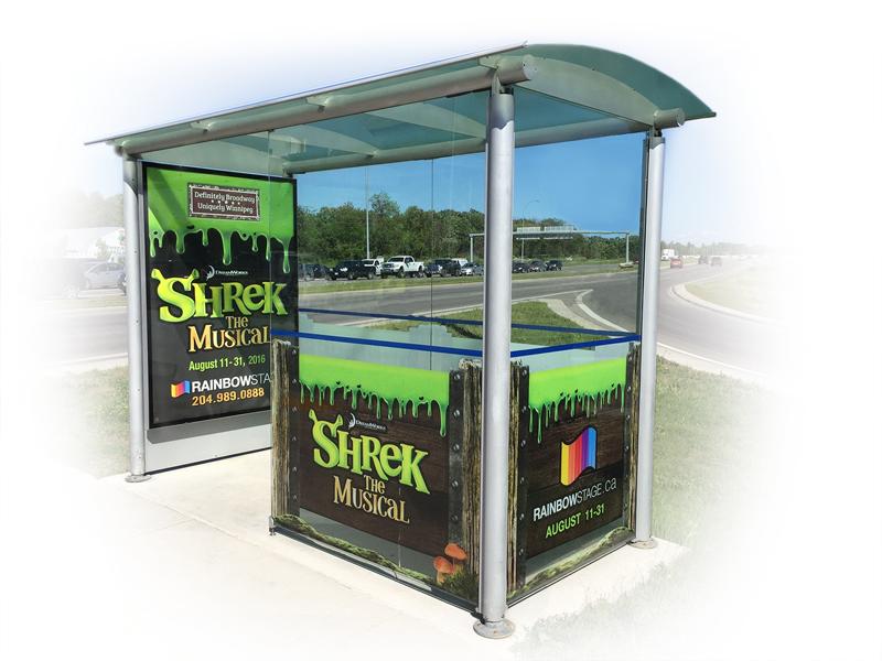 Shrek Bus Shelter